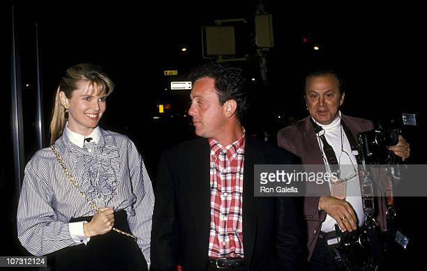 Christie Brinkley Billy Joel and Ron Galella during Party for Billy Joel's TV Special A Matter of Trust Billy Joel in the USSR June 2 1988 at Hard...