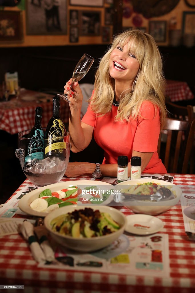 Christie Brinkley celebrates the launch of her Prosecco, Bellissima, at Buca di Beppo at Universal CityWalk on June 28, 2017 in Universal City, Californi