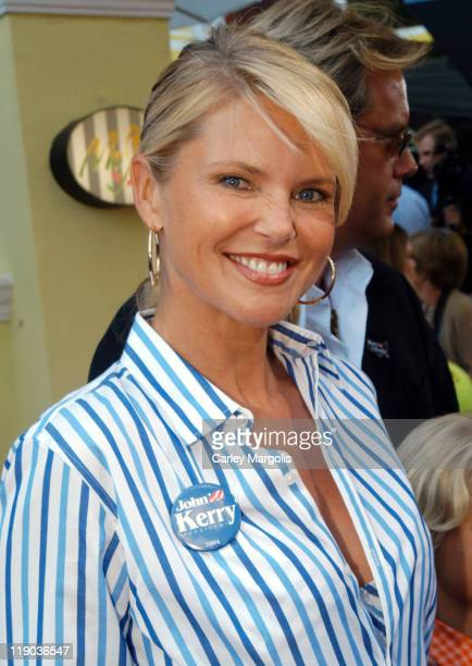 Christie Brinkley during 2004 US Open - Red Carpet Event for Celebrities and VIPs During Men's Single Finals at USTA National Tennis Center in New...