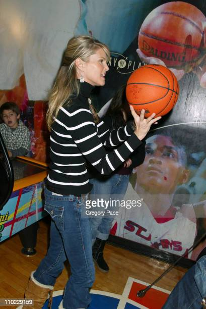 Christie Brinkley during Ringling Brothers and Barnum Bailey Circus PreShow Celebrity Event at Madison Square Garden in New York City New York United...