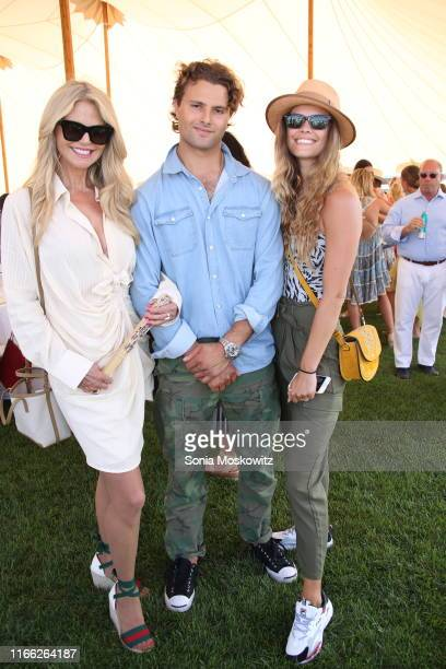 Christie Brinkley Jack Brinkley Cook and Nina Agdal at the Hamptons Cup presented by Cartier The Equuleus Polo Club on August 04 2019 in Watermill...