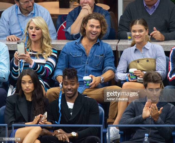 Christie Brinkley, Jack Cook, Nina Agdal, Shanina Shaik and DJ Ruckus at Day 14 of the US Open held at the USTA Tennis Center on September 9, 2018 in...