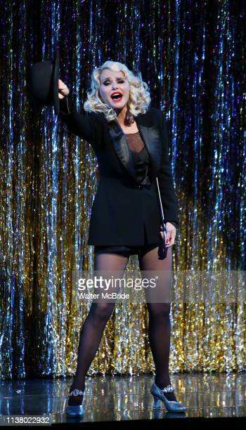 """Christie Brinkley kicks off her third run as 'Roxie Hart' in """"Chicago"""" on Broadway at the the Ambassador on April 18, 2019 in New York City."""