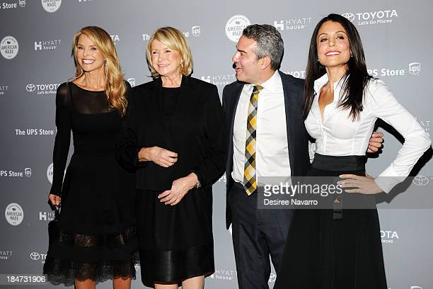 Christie Brinkley, Martha Stewart, Andy Cohen and Bethenny Frankel attend the 2nd annual American Made Awards at Vanderbilt Hall at Grand Central...