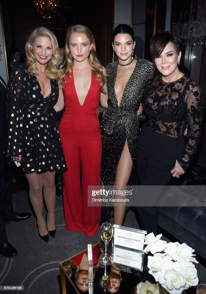 Christie Brinkley, Sailor Brinkley-Cook, Kendall Jenner, and Kris Jenner attend Harper's BAZAAR 150th Anniversary Event presented with Tiffany & Co at The Rainbow Room on April 19, 2017 in New York City.