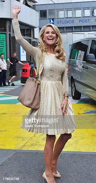 Christie Brinkley Seen leaving the studio's of ITV on July 14 2011 in London England