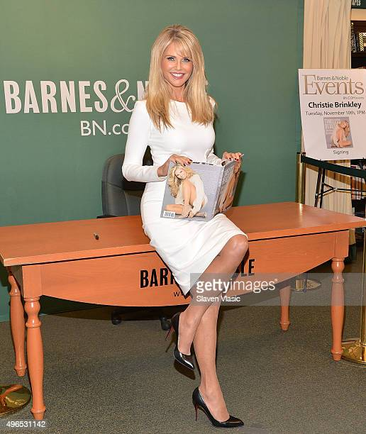 Christie Brinkley signs copies of Timeless Beauty Over 100 Tips Secrets and Shortcuts To Looking Great at Barnes Noble 5th Avenue on November 10 2015...