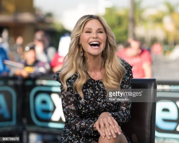 Christie Brinkley visits 'Extra' at Universal Studios Hollywood on January 18 2018 in Universal City California
