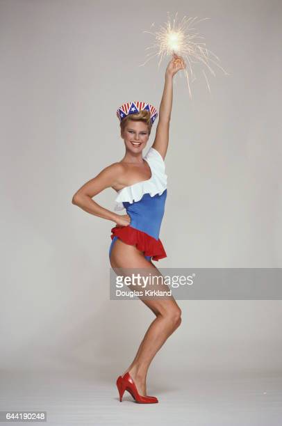 Christie Brinkley with a Sparkler