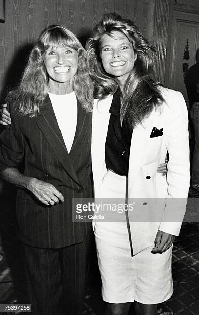 Christie Brinkley with mother Marge