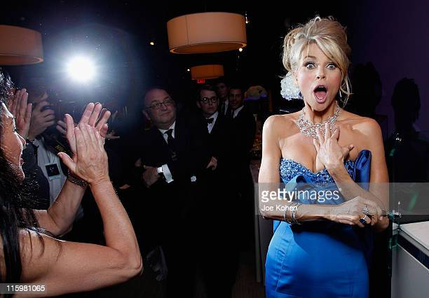 Christie Brinkley won an Audemars Piguet Rose Gold Royal Oak during the Audemars Piguet Green Room and Gift Suite during the 65th Annual Tony Awards...