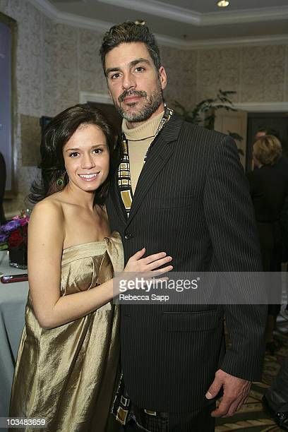 Christie Burson and Eric Etebari at MercedesBenz Oscar Viewing Party at the Four Seasons on February 24 2008 in Beverly Hills California