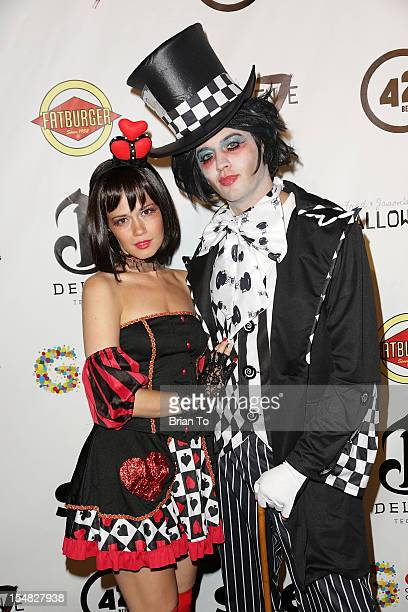 Christie Burson and Johnny Pacar attend Fred Jason's annual Halloweenie charity event benefiting Alive Music Project Gay Men's Chorus of Los Angeles...