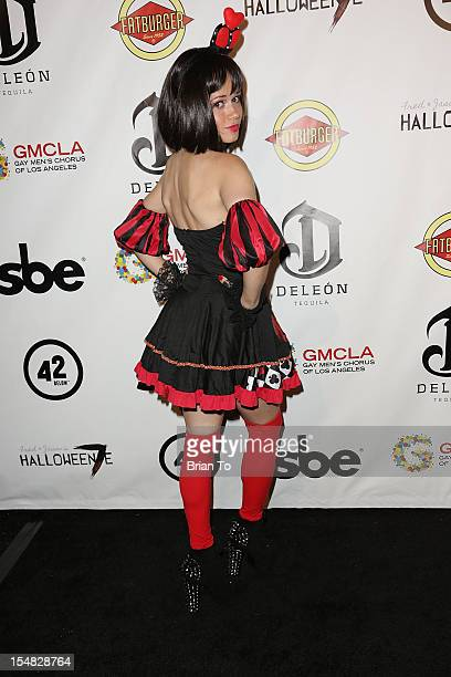 Christie Burson attends Fred Jason's annual Halloweenie charity event benefiting Alive Music Project Gay Men's Chorus of Los Angeles at The Lot on...