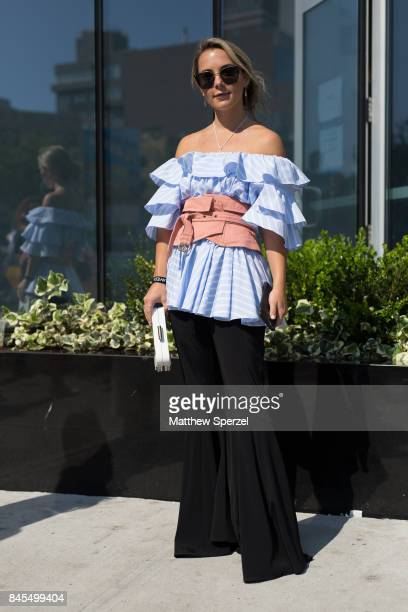Christie Ferrari is seen attending Public School during New York Fashion Week wearing Tome Isabel Marant on September 10 2017 in New York City