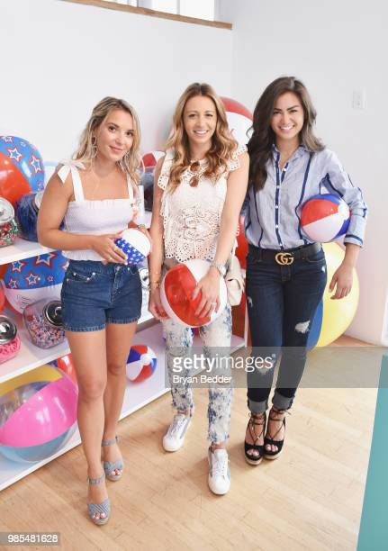 Christie Ferrari Marni Harvey and Caila Quinn attend DSW Block Party hosted by Olympians Adam Rippon and Mirai Nagasu on June 27 2018 at Ramscale...