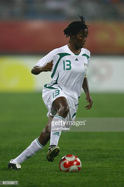 Christie George of Nigeria in action during the women's preliminary group F match between Nigeria and Korea at Shenyang Stadium on Day 2 of the...