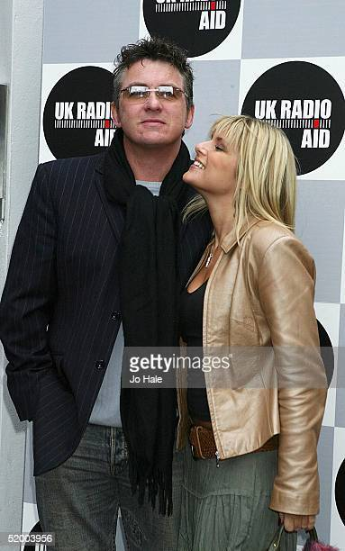 Christie Goddard and Shane Ritchie arrive for UK Radio Aid a nationally syndicated event raising funds for children affected by the Asian tsunami at...