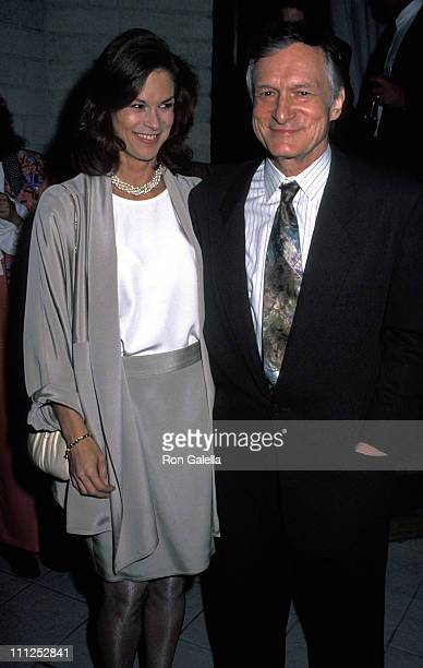 Christie Hefner and Hugh Hefner during Party for Hugh Hefner and the 40th Anniversary Book at Playboy Building in New York City, New York, United...