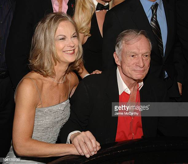 Christie Hefner and Hugh Hefner during The Playboy Club Grand Opening at The Palms Hotel and Casino Day One at The Playboy Club, The Palms Hotel and...