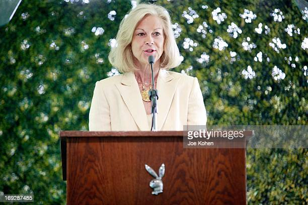 Christie Hefner attends the Hugh M Hefner Awards ceremony at the Playboy Mansion honoring Norman Lear with a Lifetime Achievement Award at The...