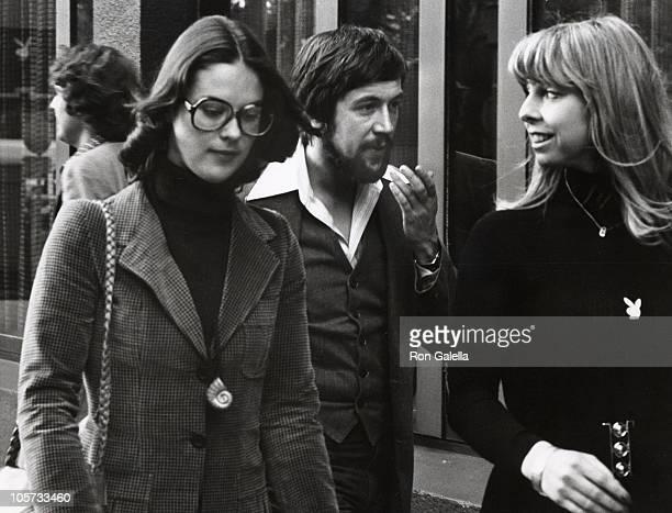 Christie Hefner, Dan Stone, and Guest during Sightings on London Streets - October 27, 1976 in London, Great Britain.