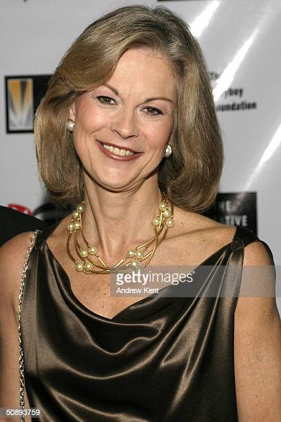 Christie Hefner poses at the Playboy Foundation's 25th Anniversary Hugh M Hefner First Amendment Awards May 24 2004 in New York City