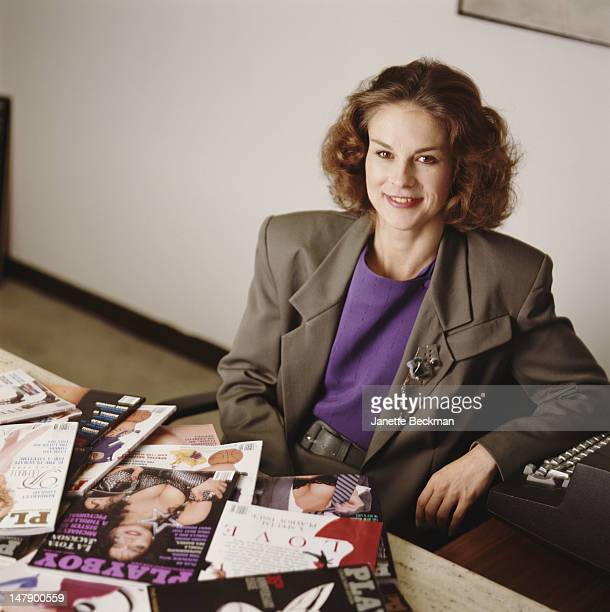 Christie Hefner, the daughter of Hugh Hefner and Chief Executive of Playboy Enterprises, New York City, 2002.