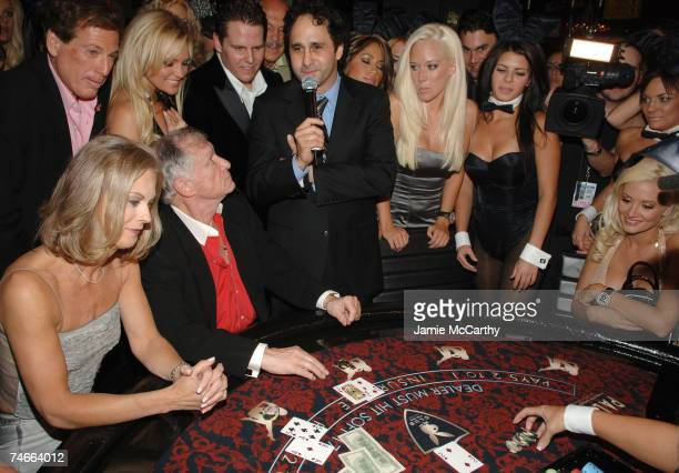 Christie HefnerBridget MarquardtHugh Hefner George Maloof Kendra Wilkinson and Holly Madison at the The Playboy Club The Palms Hotel and Casino in...