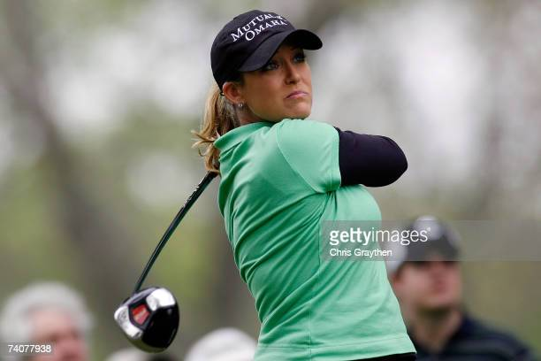 Christie Kerr tees off on the 9th hole during the first round of the SemGroup Championship presented by John Q Hammons on Friday May 4 2007 at Cedar...