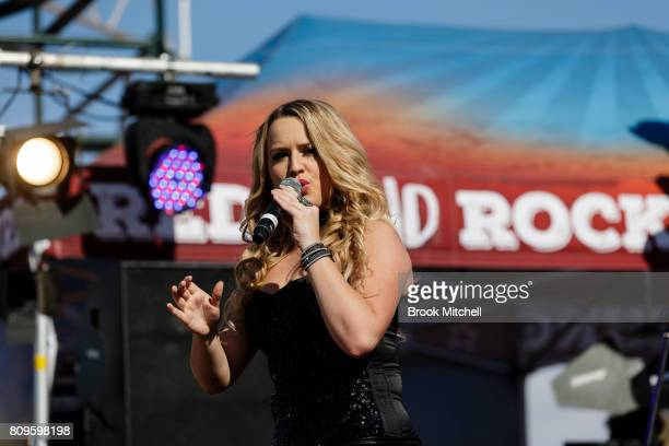 Christie Lamb performs at the Birdsville Big Red Bash 2017 on July 6 2017 in Birdsville Australia