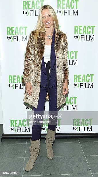 Christie Mack attends the Sing Your Song screening at the Museum of Modern Art on January 10 2012 in New York City