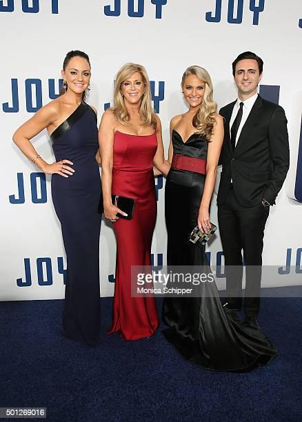 Christie Miranne Joy Mangano Jackie Miranne and Robert Miranne attend the Joy New York premiere at Ziegfeld Theater on December 13 2015 in New York...