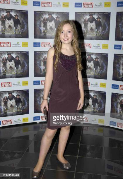 Christie Mitchell during Greyfriars Bobby UK Gala Premiere at Vue Omni Centre in Edinburgh Great Britain