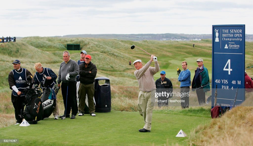 Christie O'Connor Jnr tees off from the 4th during Round 1 of the Senior British Open at Royal Aberdeen GC, July 21, 2005 in Aberdeen, Scotland.