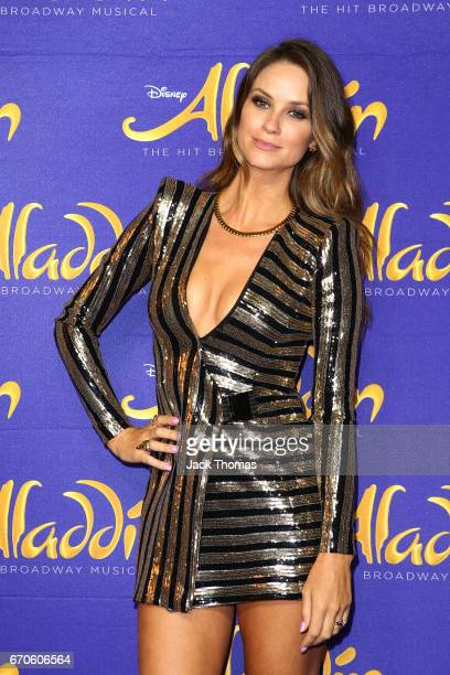 Christie Whelan Browne arrives ahead of Aladdin opening night at Her Majesty's Theatre on April 20 2017 in Melbourne Australia