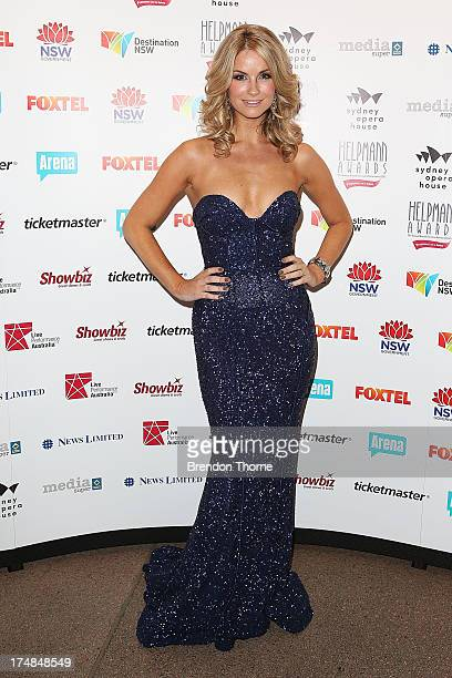 Christie Whelan Browne arrives at the 2013 Helpmann Awards at the Sydney Opera House on July 29 2013 in Sydney Australia