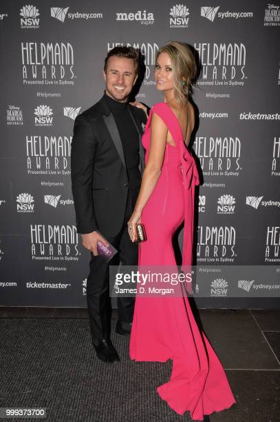 Christie Whelan Browne with her husband Rohan Browne before the 18th Annual Helpmann Awards Curtain Raiser on July 15 2018 in Sydney Australia The...