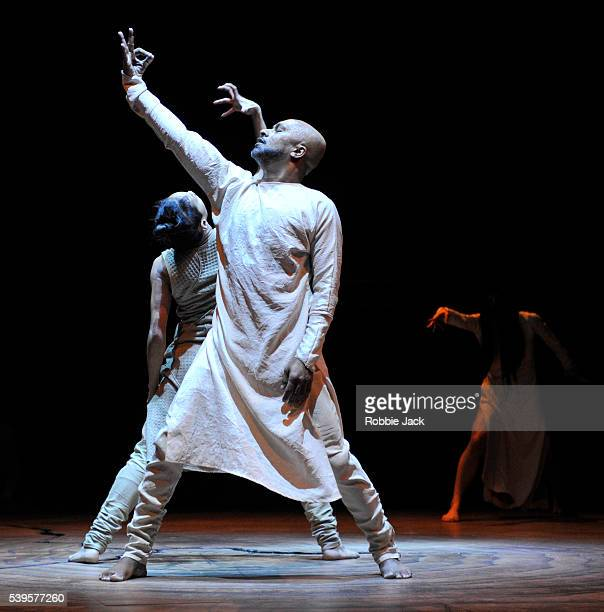 Christiine Joy Ritter Akram Khan and ChingYing Chien in the Akram Khan Company's production of Akram Khan's Until The Lions at the Roundhouse in...