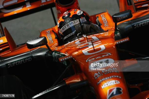 Christijan Albers of The Netherlands and Spyker F1 drives during practice for the Monaco Formula One Grand Prix at the Monte Carlo Circuit on May 24...