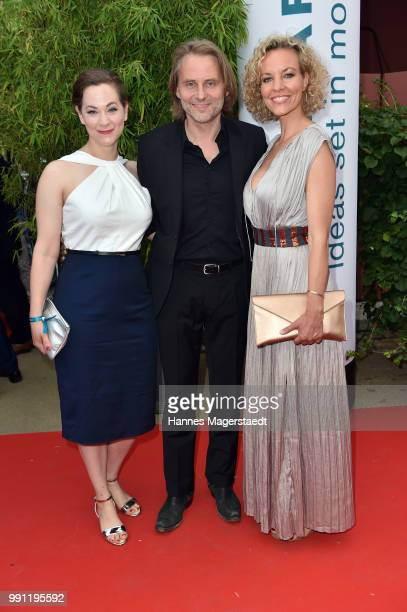 Christin Balogh Erich Altenkopf and Melanie Wiegmann during the Bavaria Film reception during the Munich Film Festival 2018 at Kuenstlerhaus am...