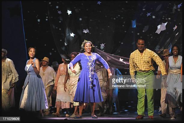 Christin Marie Hill Adina Aaron Stanley Jackson Janinah Burnett at The Opening Night Of The Opera Treemonisha By Scott Jopin At The Theatre Du...