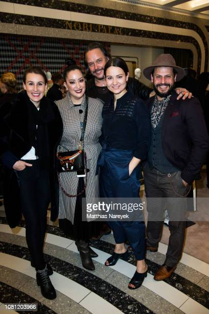 Christin Tiller Miyabi Kawai Lars Berger Caroline Hoegl and Manuel Cortez attend the Nobi Talai Pop Up opening at KaDeWe on January 11 2019 in Berlin...