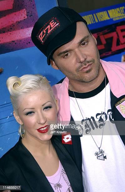 Christina Aguilera and David LaChapelle director of 'Rize'