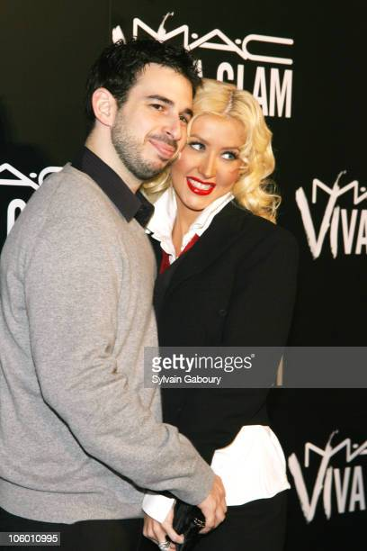 Christina Aguilera and husband during MAC Cosmetics Celebrates Viva Glam VI with Exclusive Dinner Arrivals at Cedar Lake in New York New York United...