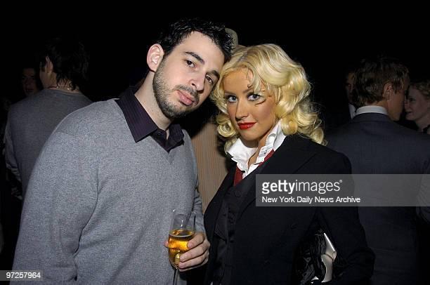 Christina Aguilera and husband Jordan Bratman attend a dinner celebrating the MAC Cosmetics Viva Glam Vl campaign at Cedar Lake Sales of Viva Glam VI...