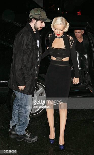 Christina Aguilera and husband Jordan Bratman attend Christina Aguilera's Bionic album release party at Avenue on June 9 2010 in New York City