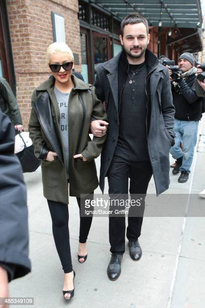 Christina Aguilera and Matt Rutler are seen on April 17 2014 in New York City