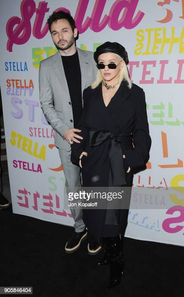 Christina Aguilera and Matthew Rutler attend Stella McCartney's Autumn 2018 Collection Launch on January 16 2018 in Los Angeles California