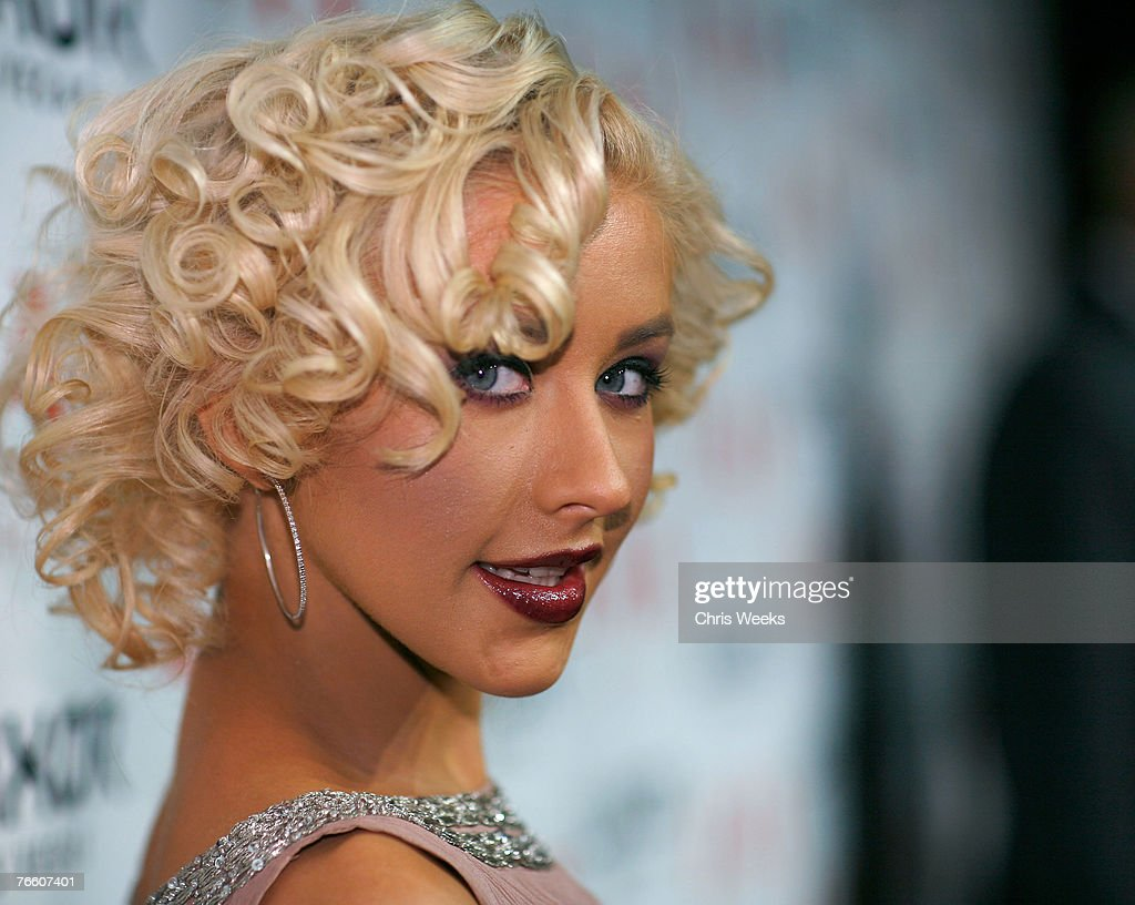 Christina Aguilera Hosts An Evening At LAX Nightclub